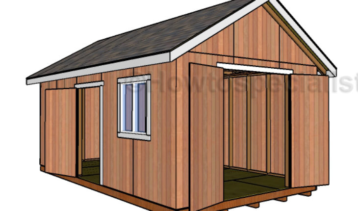 Building shed double doors howtospecialist how to for Double door shed plans