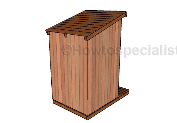Free Outhouse Plans - Back View