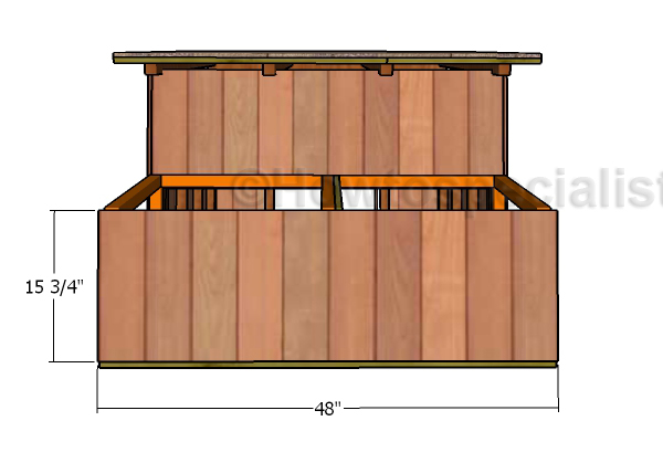 Front wall nesting box