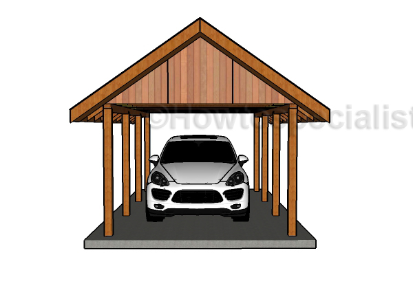 building a gable carport roof plans howtospecialist