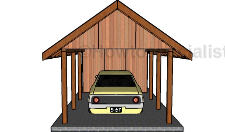 How to build a carport with storage