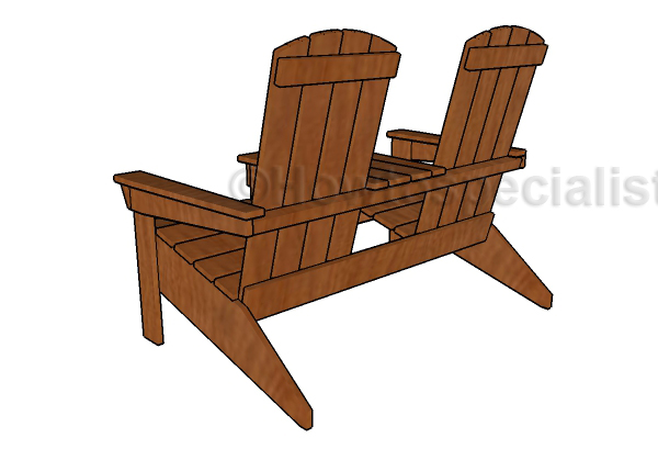 How to build a doubel chair bench