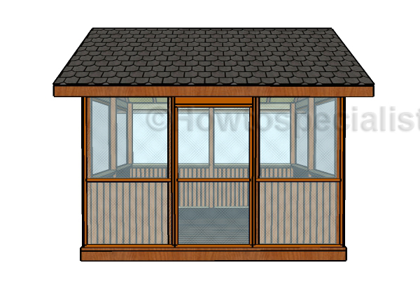 How to build a screened gazebo