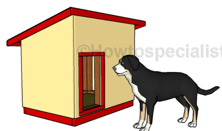 Large Dog House Plan