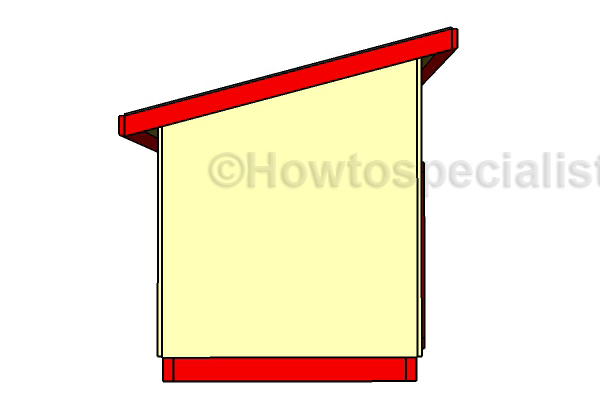 Large Dog House Plans - Side View