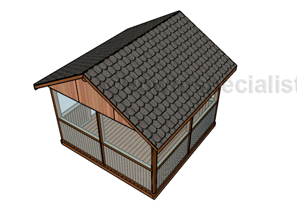 Screened gazebo plans - Roof