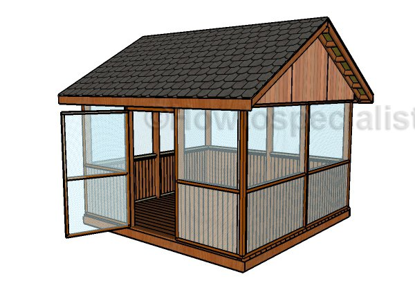 Screened gazebo plans howtospecialist how to build for Simple gazebo plans
