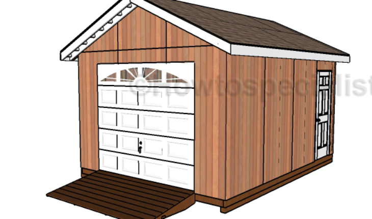 Shed plans with garage door plans howtospecialist how for Garage door plans free