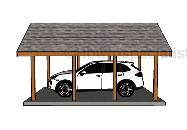 single carport plans howtospecialist how to build