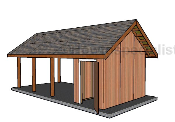 Single car carport with storage plans