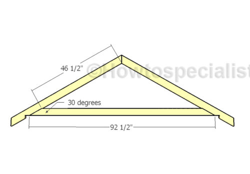 8x16 Gable Shed Roof Plans Howtospecialist How To