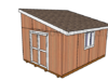 12x16 Lean to Shed Plans HTS