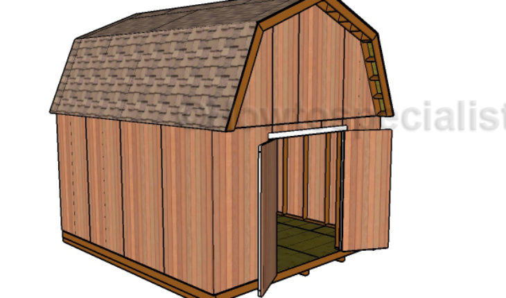 14x16 Barn Shed Plans