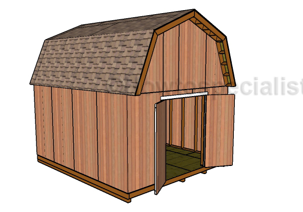 14x16 Barn Shed Plans Howtospecialist How To Build