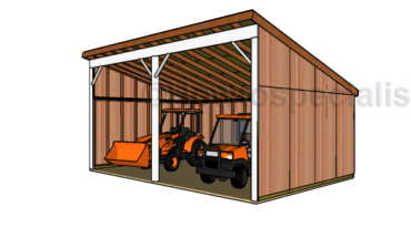 16x24 Loafing Shed Plans