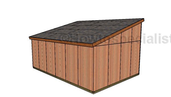 16x24 Run In Shed - Back view