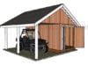 8x16 Shed with Porch Plans
