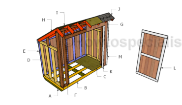 Building a lean to storage shed