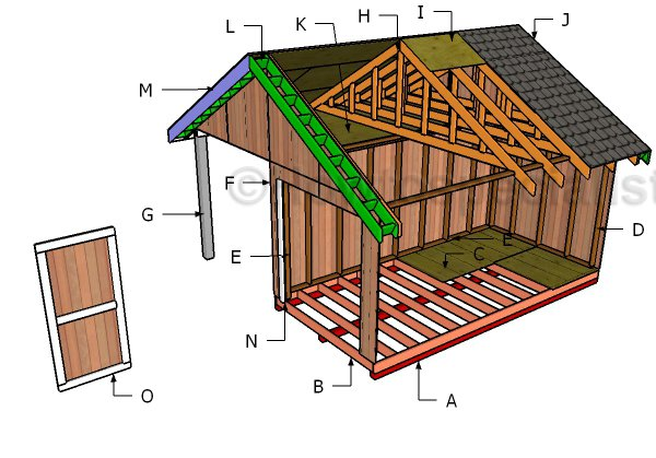 8x16 Shed With Porch Roof Plans