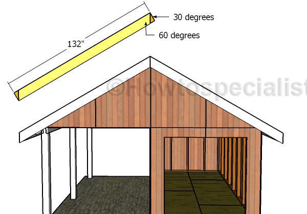 Front and back roof rafters