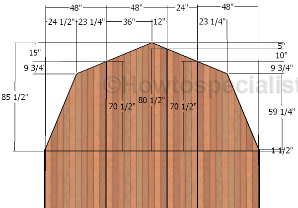 14x16 Barn Shed Roof Plans Howtospecialist How To