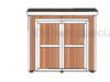 Lean to Storage Shed Plans - front