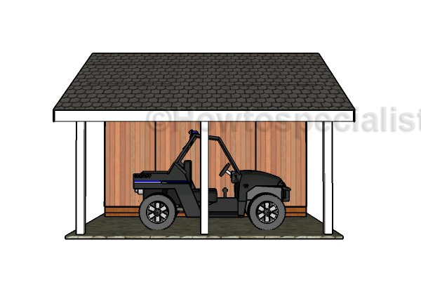 Shed with Porch Plans - Side view