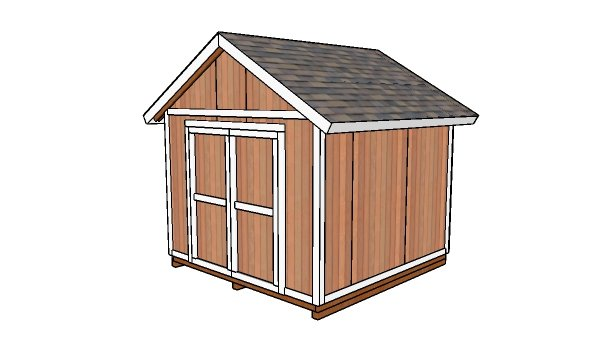 10x10 Gable Shed Video Howtospecialist How To Build Step By