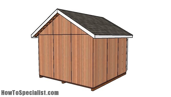 12x12 shed plans - Back view
