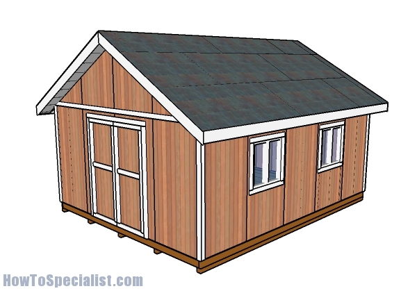16x20 shed plans howtospecialist how to build step by for 20 x 40 shed plans