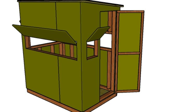 4x6 Shooting House Plans Howtospecialist How To Build