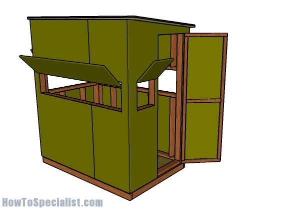 4x6 Shooting House Roof Plans on A Frame House Blueprints