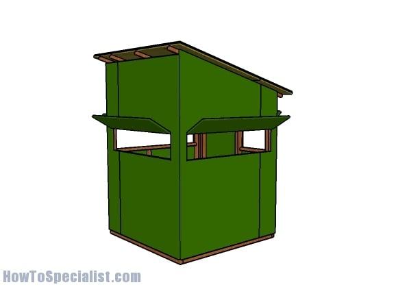 5x5 deer blind plans howtospecialist how to build for Simple deer blind plans