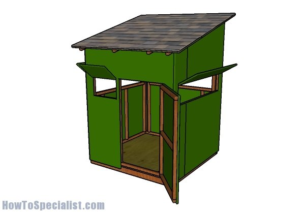 5x5 Deer Blind Plans Howtospecialist How To Build