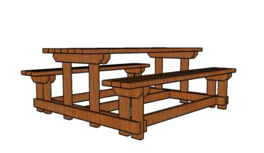 6 foot Picnic Table Plans with Benches Plans