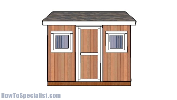 8x10 Shed Plans | HowToSpecialist - How to Build, Step by ...