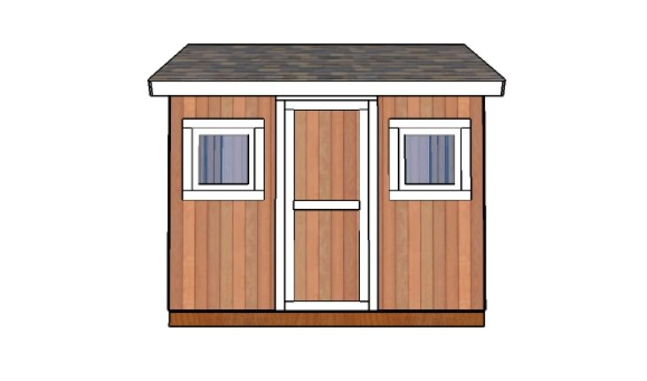8x10 Shed Plans - Front view
