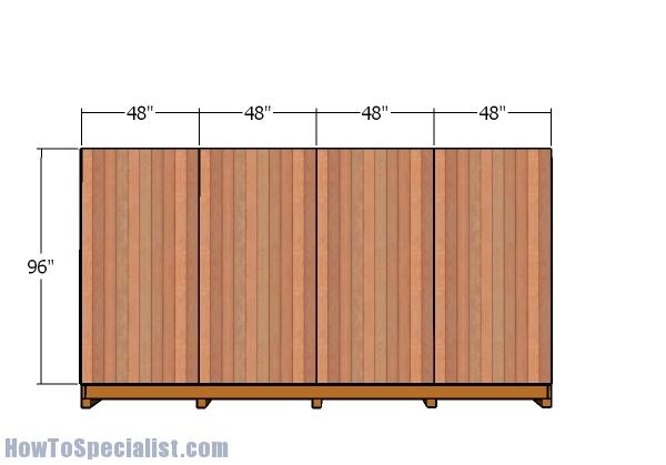 Back wall - Siding