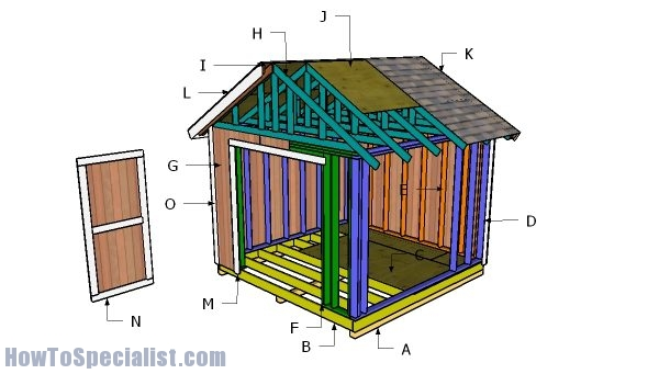 10x10 Gable Shed Roof Plans Howtospecialist How To Build Step