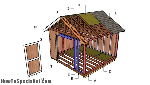 12x12 Shed Plans Howtospecialist How To Build Step By Step