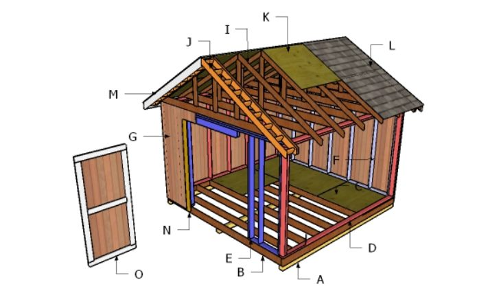 12x12 gable shed roof plans howtospecialist how to for Garden shed 12x12