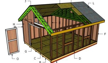 Awesome  Gable Shed Roof Plans