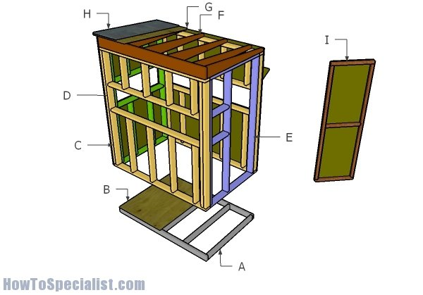 4x6 Shooting House Roof Plans Howtospecialist How To