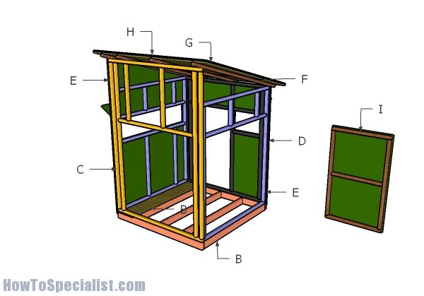 5x5 deer blind plans howtospecialist how to build for Building deer blind windows