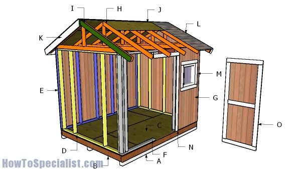 8x10 Shed Roof Plans Howtospecialist How To Build Step By