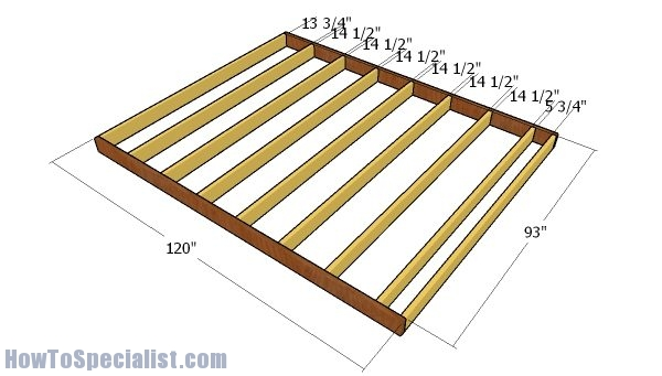 8x10 Shed Plans Howtospecialist How To Build Step By