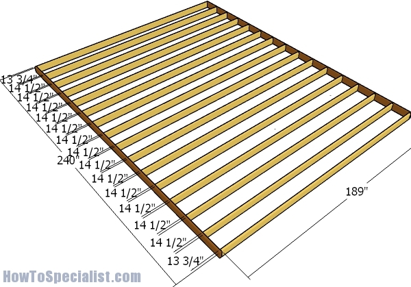 16x20 Shed Plans Howtospecialist How To Build Step By
