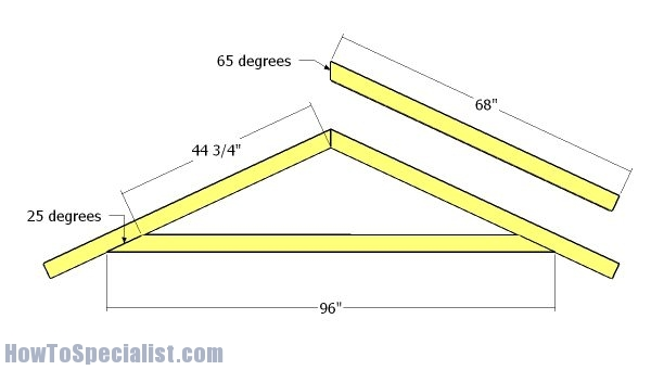8x10 Shed Roof Plans Howtospecialist How To Build Step By Step Diy Plans
