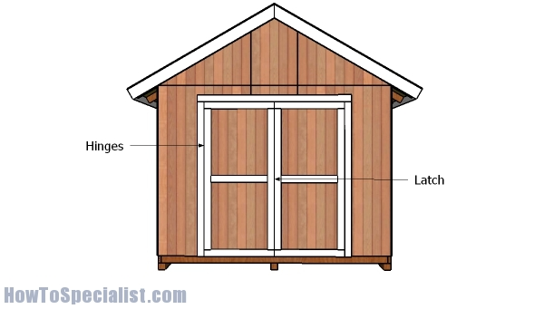 10x10 Double Shed Doors Plans Howtospecialist How To Build