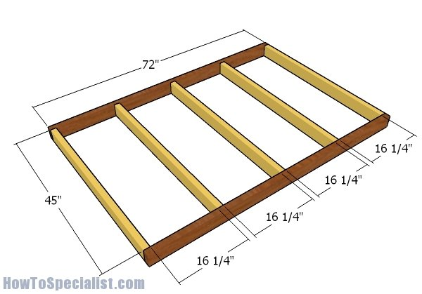 4x6 Shooting House Plans | HowToSpecialist - How to Build, Step by